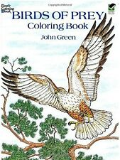 Premium Birds of Prey Coloring Book Gift Relaxing Patterns Adults/Kids Creative