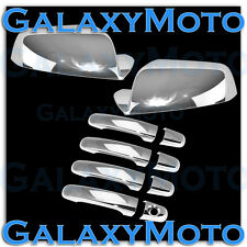 10-15 GMC Terrain Triple Chrome Plated Mirror+4 Door Handle Cover Combo kit