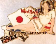 Hard Rock Cafe YOKOHAMA 2003 July 4th PIN Sexy Girl Guitar US/Japan FLAGS #18550
