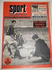 SPORT ILLUSTRATO 1955 n. 42 - Moser a Lugano, Magni, Spal 1955-1956