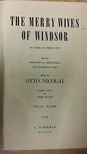 Nicolai: The Merry Wives Of Windsor: Music Score (G6)