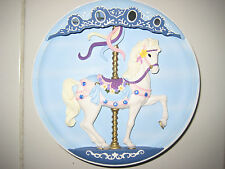 1992 Musical Carousel Horse Plate Sweet Stander By Rhodes Studio Collectors Item