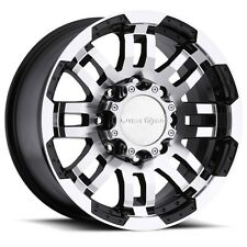 NEW (set of 4) 17x8.5 VISION 375 Warrior 8X165.1 +18 black machined