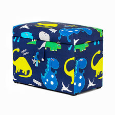 Dinosaurs Toy Chest Soft Closing Padded Storage Children's Kids Boys Bedroom