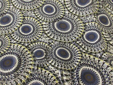 Grey Mandala Print 100% Viscose Summer Printed Dress Fabric.