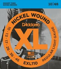 D'Addario EXL110 Electric Guitar Strings 10-46 Light sets