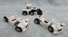 2 Matchbox Scrapers and Tractor Shovel white diecast construction toys FREE S/H