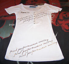 Ford Performance Racing FPR Ladies White Printed T Shirt Size 14 New