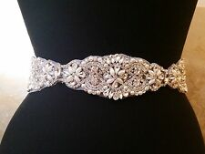 "Wedding Belt, Bridal Sash Belt - Crystal Pearl Sash Belt = 15"" long"