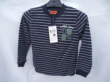 BNWT Boys Sz 6 Fun Spirit Charcoal Stripe Long Sleeve Henley Style Tee Shirt Top