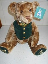 "NWT 1999 Harrods Teddy Bear 150th Anniversary Plush 19"" Jointed  Ascot Vest NEW"
