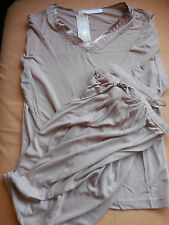 LADIES PALE PINK INSPIRATIONS TWO PIECE LOUNGE SLEEP PYJAMAS SIZE 10-12 NEW