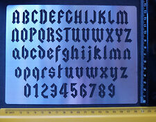 Stainless/Steel/stencil/Oblong/Angular/Alphabet/Numbers/Gothic/Emboss/LARGE