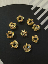 2pc Tibetan Gold(24 k gold crown)Bead Charms Accessories wholesale PJ2821