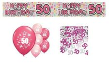 50th BIRTHDAY PARTY PACK DECORATIONS BANNER BALLOONS (EX.P.3)