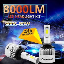 80W 8000LM CREE LED HEADLIGHT BULBS 9006 HB4 9012 6000K HIGH POWER LOW BEAM