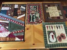 Lot of 4 Country Patchwork Quilt Samplers, 3-D Detail