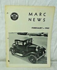Model A News-Model A Restorers Club February 1962  MARC NEWS