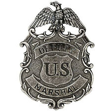 American Lawman Old West Era Deputy United States Marshal Nickel Eagle Badge