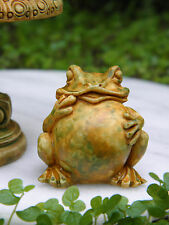 Miniature Dollhouse FAIRY GARDEN Accessories ~  Aged Frog Toad Statue ~ NEW