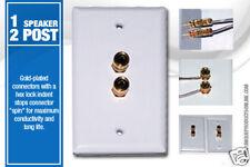 6 Pk Speaker Wall Plate 2 Post for 1 Speaker  Dolby 5.1