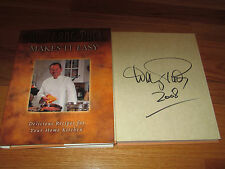 Celebrity Chef WOLFGANG PUCK signed MAKES IT EASY 2004 Book COA