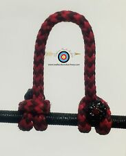 2 Pack- Speckled  Red/Black  Archery Release Bow String D Loop, BCY #24
