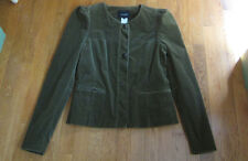 AWESOME! ISABEL MARANT GREEN STRETCH COTTON CORDUROY JACKET COAT SIZE 3 M-L