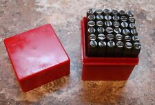 "6MM 1/4"" Letter and Number Punch Stamp Set Metal-Steel NEW Heavy-duty"