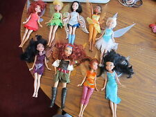 Disney Fairies 9-10 inch dolls nice lot of 9