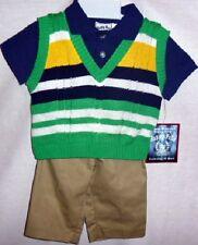 Happy Fella Infant/Toddler Boy's 3-Piece Shirt, Pant & Sweater Vest Set, Sz 6/9M