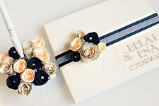 Luxury Wedding Guest Book with Pen Set Personalised • Available in 24 colours
