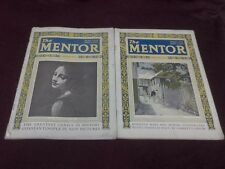 The Mentor Magazine 2 Issues January & November 1923 Vintage Advertising  Photos