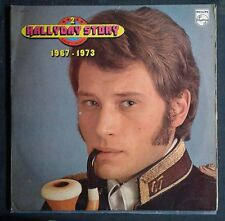 JOHNNY HALLYDAY Story 2.1967-1973.Original double FRENCH LP.