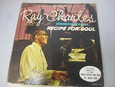 RAY CHARLES INGREDIENTS IN A RECIPE FOR SOUL 1963 ABC 33 LP Vinyl Record