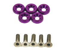 SUPER GT 5 x Anodise Purple Fender Washers & Bolts Mazda RX7 FD3S FC3S RX8 MX5