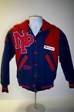 Vintage 1989 Northland Pines Eagles Letter Jacket Eagle River WI Mia Pom Poms