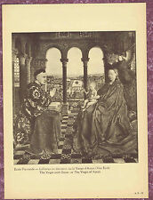 The Virgin and Child with Chancellor Rollin, van Eyck- 1927 Louvre Art Print
