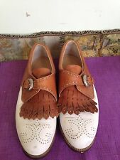 Walter Genuin Golf Shoes size 7 B Hand made in Italy Free USPS Prority Shipping