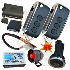 Auto Car Security Alarm System With Engine Start Stop Button Remote Central Lock