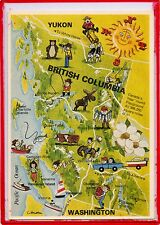 MAP POSTCARD-BRITISH COLUMBIA,CANADA'S YEAR ROUND PLAYGROUND