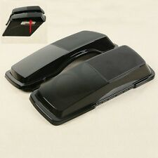 Black Saddlebag 6x9 Speaker Lids For Harley Touring Models FLHR FLTR FLHX 94-13