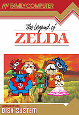 Framed Print - The Legend of Zelda Disk System (Gaming Picture Poster Nintendo)