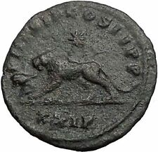 PROBUS 278AD LION with OX Legion Symbols Rare Original Ancient Roman Coin i55621