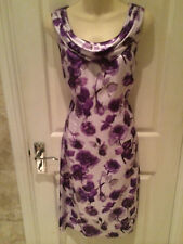 PHASE EIGHT STUNNING SILK FLORAL PRINT DRESS SZ 12 WORN ONCE IMMACULATE COND'N