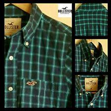 """Men's """"Hollister"""" Camicia a maniche lunghe in un segno di spunta blu. condizioni eccezionali. medio"""