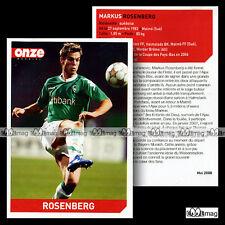 ROSENBERG MARKUS (SPORTVEREIN WERDER BREMEN) - Fiche Football / Fussball 2008