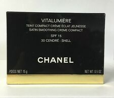 CHANEL VITALUMIERE SATIN SMOOTHING CREME COMPACT 30 CENDRE SHELL INTENSITY 1.5