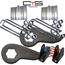 "Lift Kit Chevy Front Torsion K-02 Keys 4""Blocks=C 1988-2010 Truck 8Lug Extenders"
