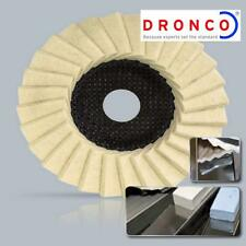 DRONCO 115 mm ANGLE GRINDER GLOSS POLISHING FLAP DISC MADE IN GERMANY